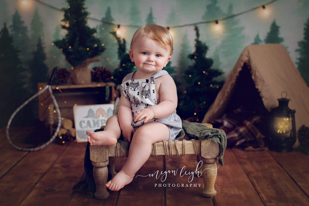 Katebackdrop:Kate Forest Camping Children Summer Backdrop for Photography Designed by Megan Leigh Photography