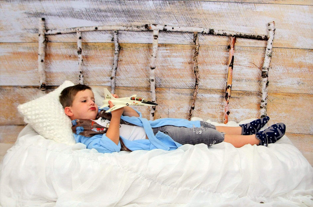 Katebackdrop:Kate Christmas Wood Wall Birch bed Simple Backdrop designed by Arica Kirby