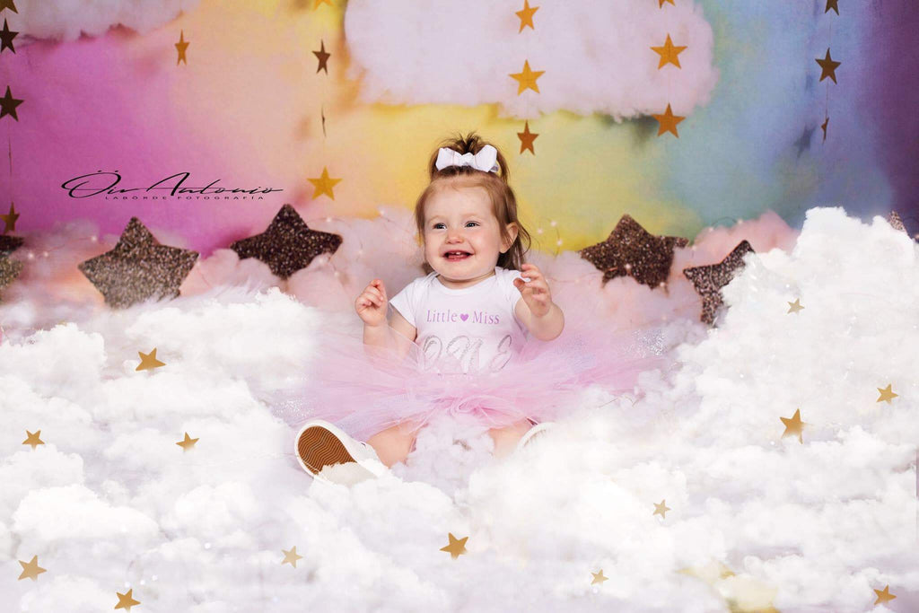 Katebackdrop£ºKate Fantasy Background with Clouds Stars Children Backdrop for Photography Designed by Megan Leigh Photography