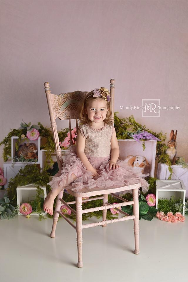 Load image into Gallery viewer, Katebackdrop£ºKate Spring Rabbits Flowers Children Easter Backdrop for Photography Designed by Mandy Ringe Photography