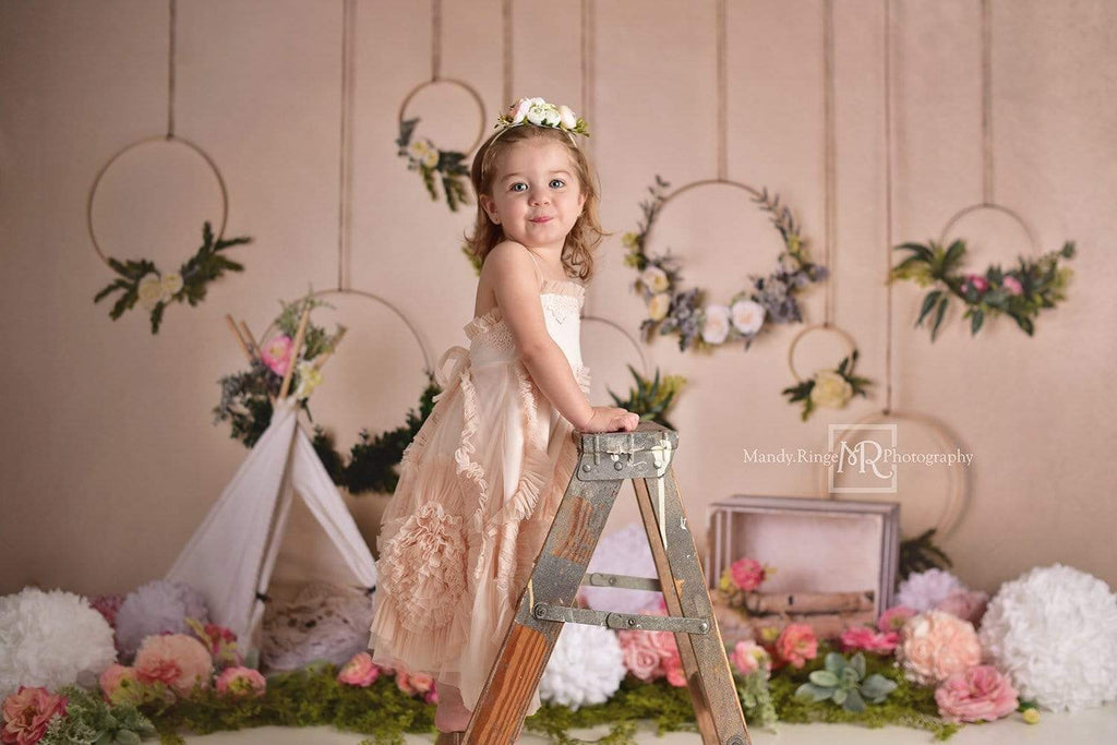 Katebackdrop£ºKate Spring Flowers Camping Children Backdrop for Photography Designed by Mandy Ringe Photography