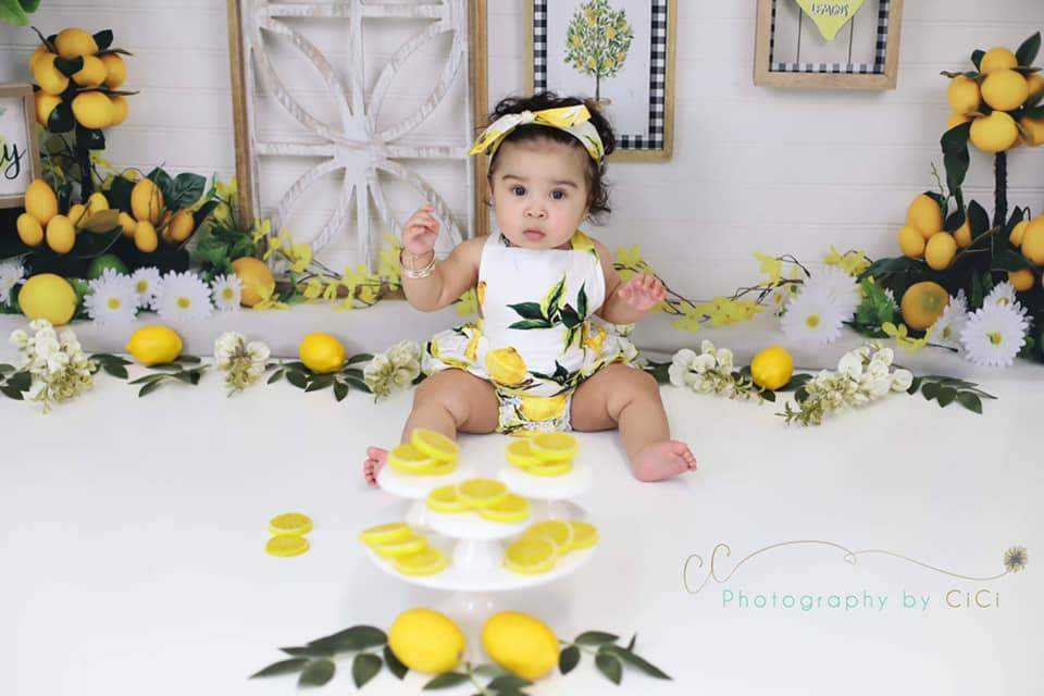Load image into Gallery viewer, Katebackdrop£ºKate Lemon Be Zesty Spring Backdrop for Photography