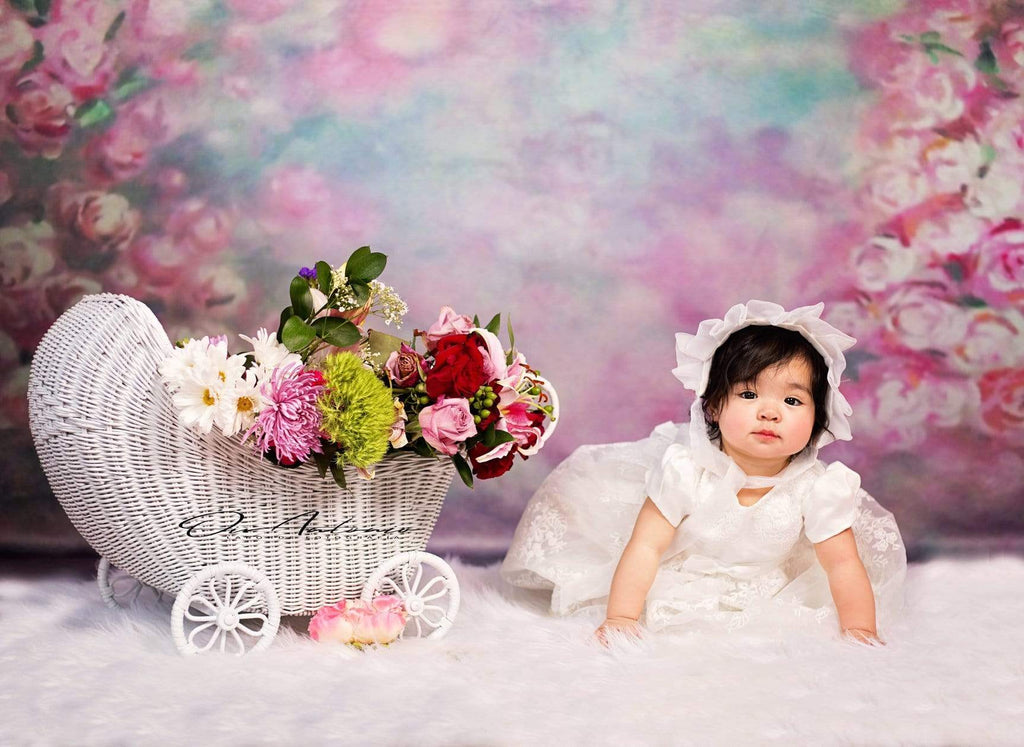 Katebackdrop:Kate Pink Florals Hand Painting Liked Portrait Photography Backdrops
