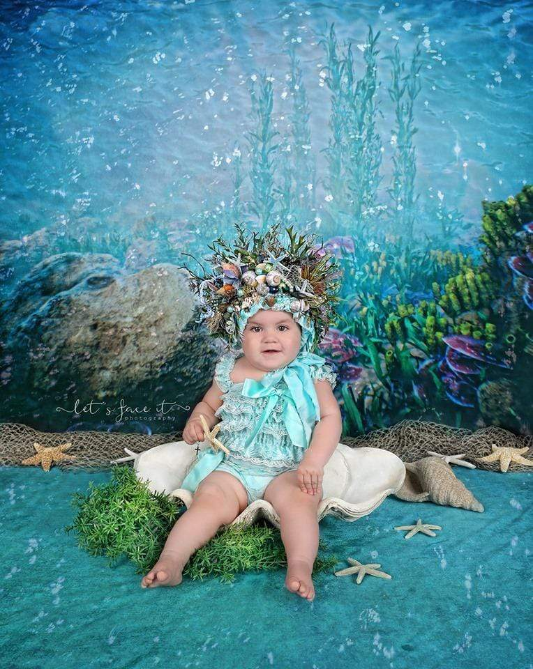 Load image into Gallery viewer, Katebackdrop£ºKate Sweet summer Underwater world backdrop for Photography