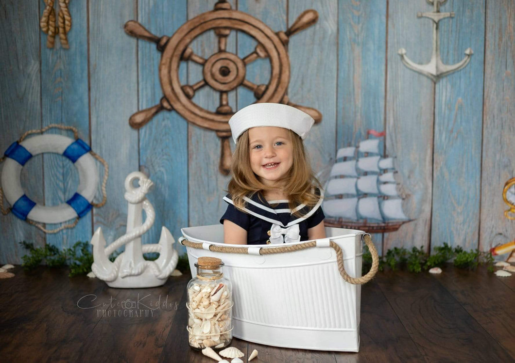 Katebackdrop£ºKate Adventure Nautical Sailor Children Backdrop for Photography Designed by JFCC