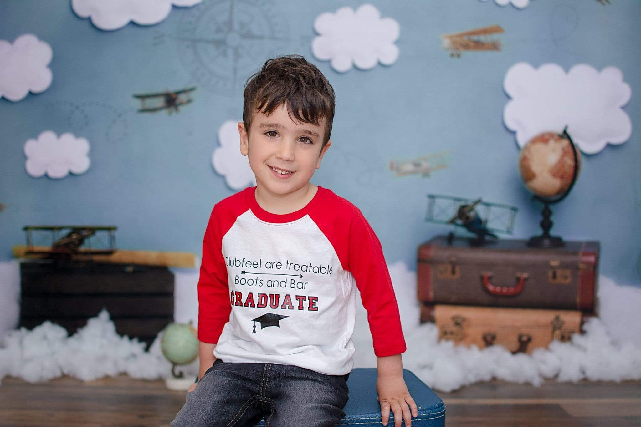 Load image into Gallery viewer, Katebackdrop£ºKate Come Fly with Me Cloud Back to School Children Backdrop for Photography Designed by Erin Larkins