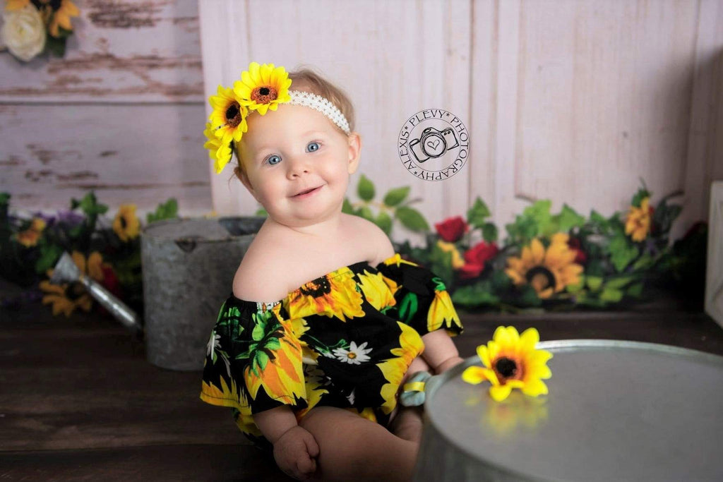 Katebackdrop£ºKate You Are My Sunshine Summer Sunflower Mother's Day Backdrop Designed by Stacilynnphotography