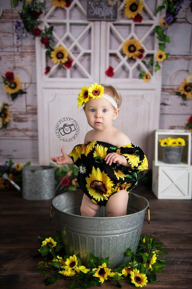 Load image into Gallery viewer, Katebackdrop£ºKate You Are My Sunshine Summer Sunflower Mother's Day Backdrop Designed by Stacilynnphotography