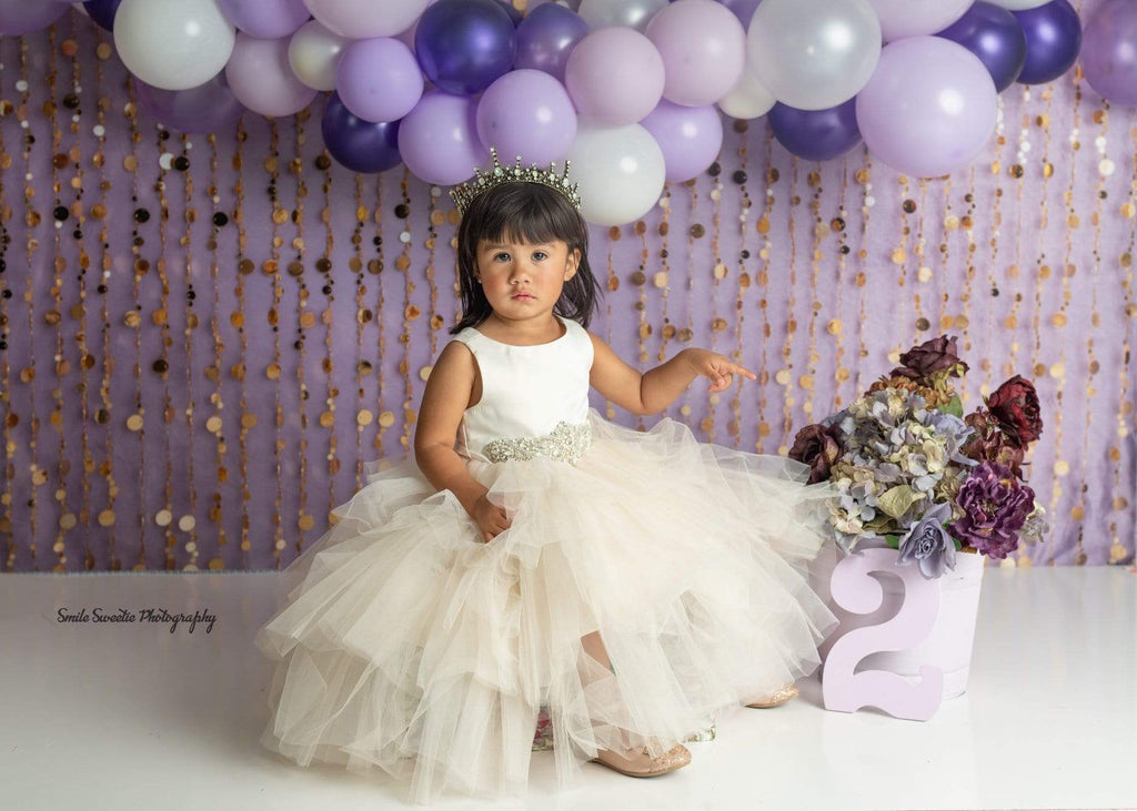 Katebackdrop£ºKate Purple Gold Dots Children Backdrop for Photography Designed by Lisa B
