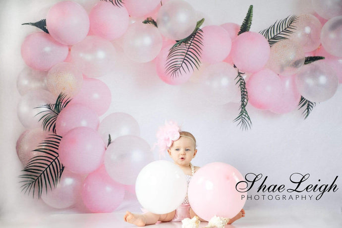 Katebackdrop:Kate Pink Balloon Garland Birthday Backdrop for Photography Designed by Megan Leigh Photography