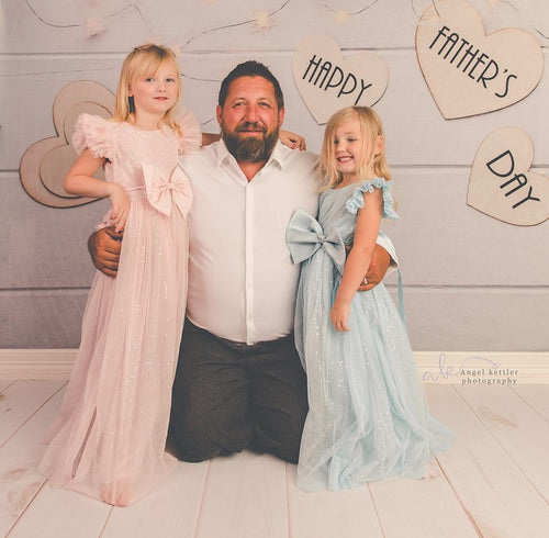Kate Happy Father'S Day White Wood Floor Photography Backgrounds