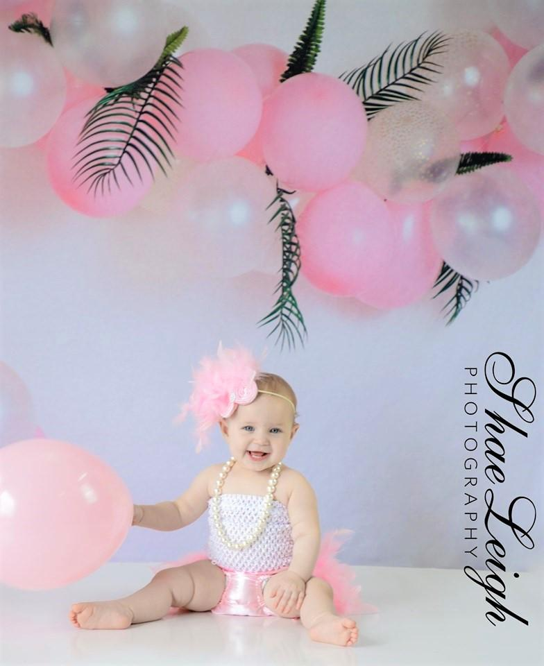 Load image into Gallery viewer, Katebackdrop£ºKate Pink Balloon Garland Birthday Backdrop for Photography Designed by Megan Leigh Photography