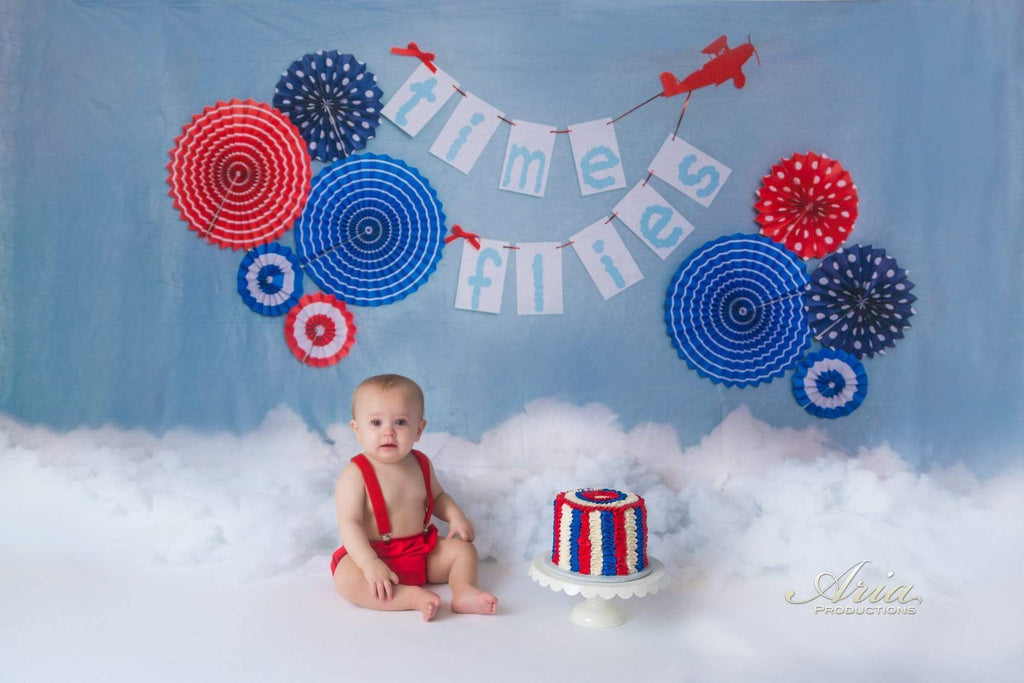 Katebackdrop£ºKate Time Flies Children july of 4th Backdrop for Photography Designed by Lisa B