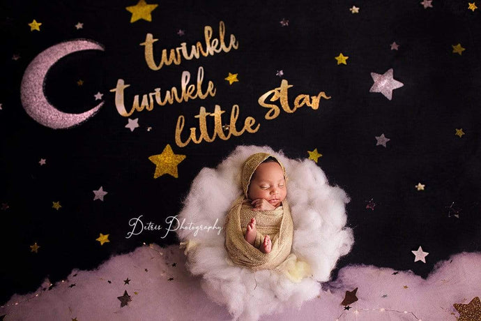 Kate Twinkle Stars Backdrop for Photography Designed By Erin Larkins