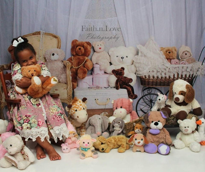 Katebackdrop£ºKate Victorian Teddy Bear Backdrop for Photography Designed By Erin Larkins