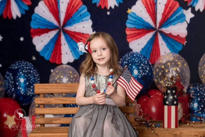Kate USA Party July of 4th Backdrop for Photography Designed By Erin Larkins