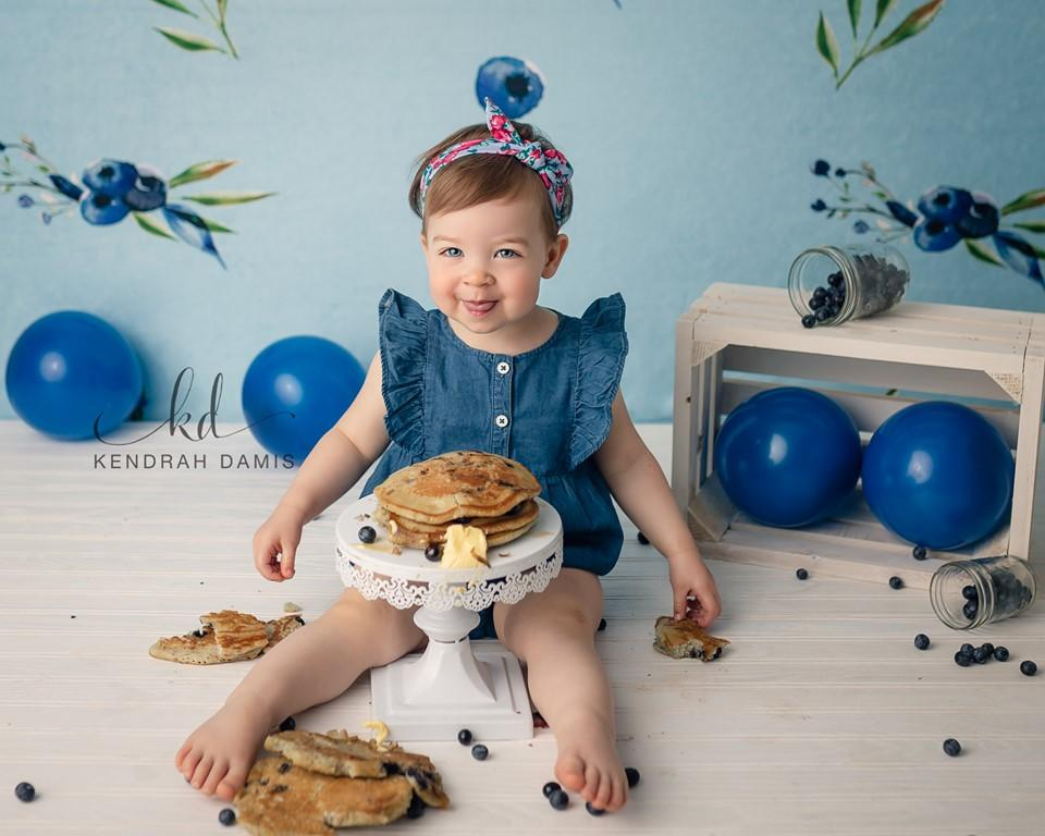 Katebackdrop:Kate Blueberries Summer Backdrop for Photography Designed By Leann West