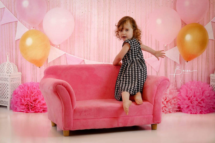 Katebackdrop:Kate Pink and Gold Birthday Glitter Backdrop for Photography