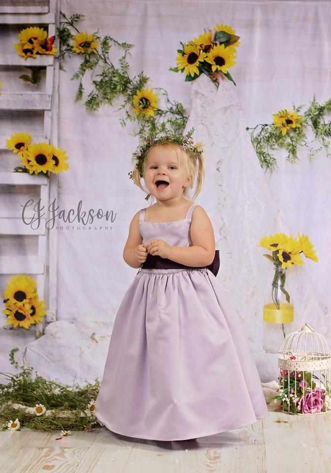 Katebackdrop:Kate Sunflower Teepee for Children Backdrop for Photography Designed By Erin Larkins