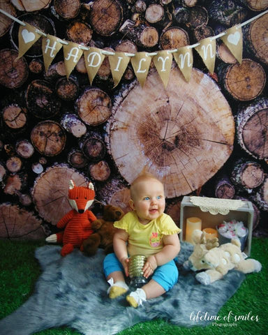 Kate Autumn Wooden Pile Backdrop for Photography Designed By Moements Photography