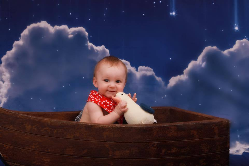 Katebackdrop£ºKate Night Sky with Moon and Cloud Children Backdrop for Photography