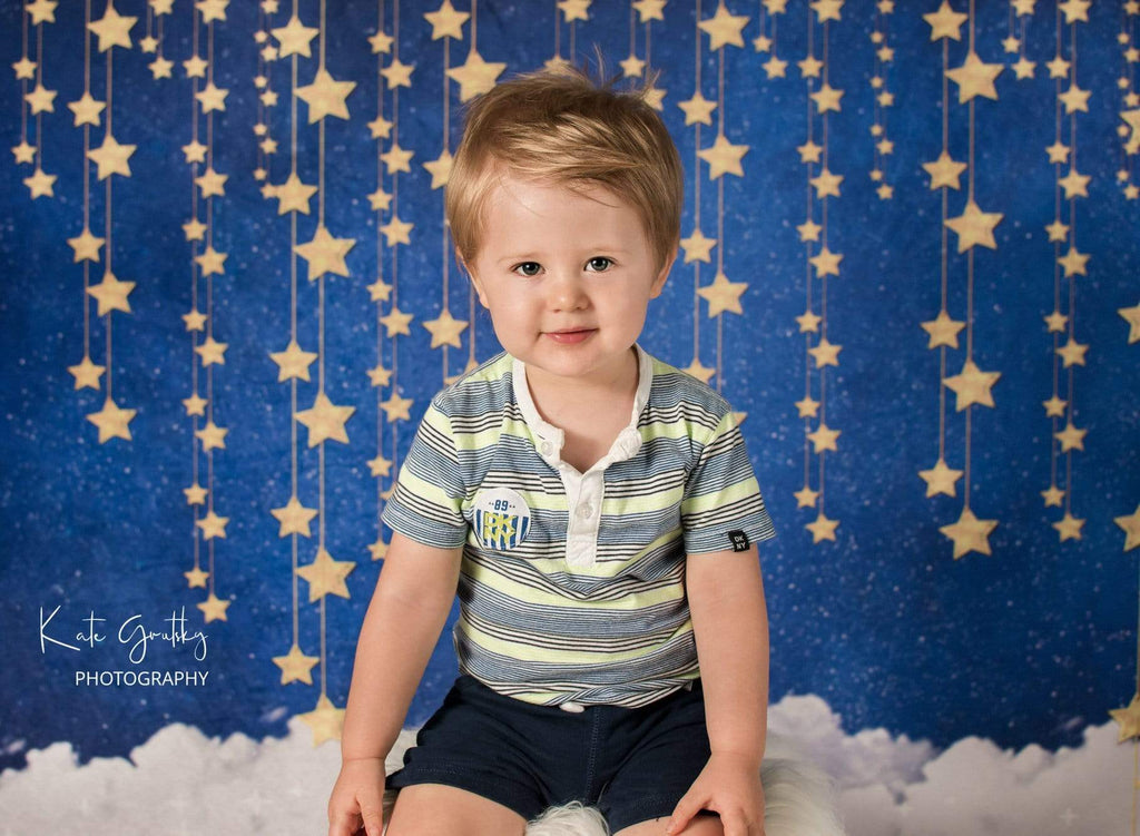 Katebackdrop£ºKate Night Sky with Bling Stars and Clouds Children Backdrop for Photography Designed by JFCC