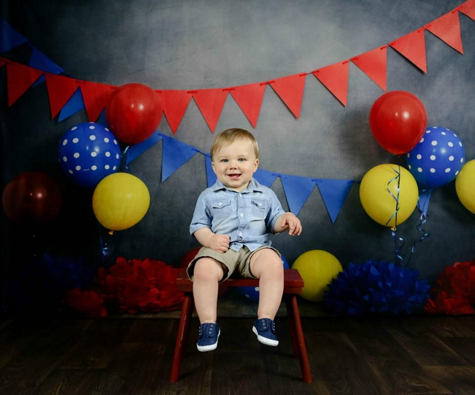 Load image into Gallery viewer, Katebackdrop£ºKate Primary Party with Balloons Backdrop for Children Photography Designed By Tyna Renner