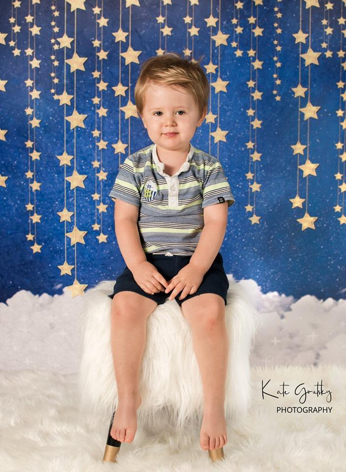 Load image into Gallery viewer, Katebackdrop:Kate Night Sky with Bling Stars and Clouds Children Backdrop for Photography Designed by JFCC
