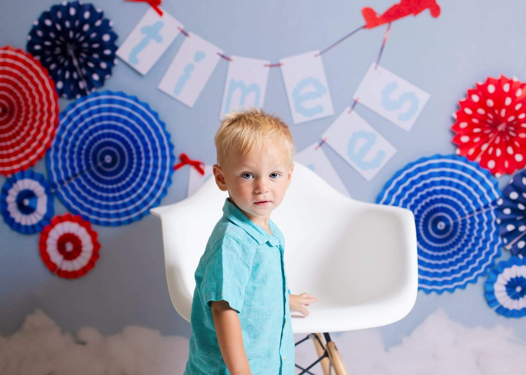 Kate Time Flies Children july of 4th Backdrop for Photography Designed by Lisa B