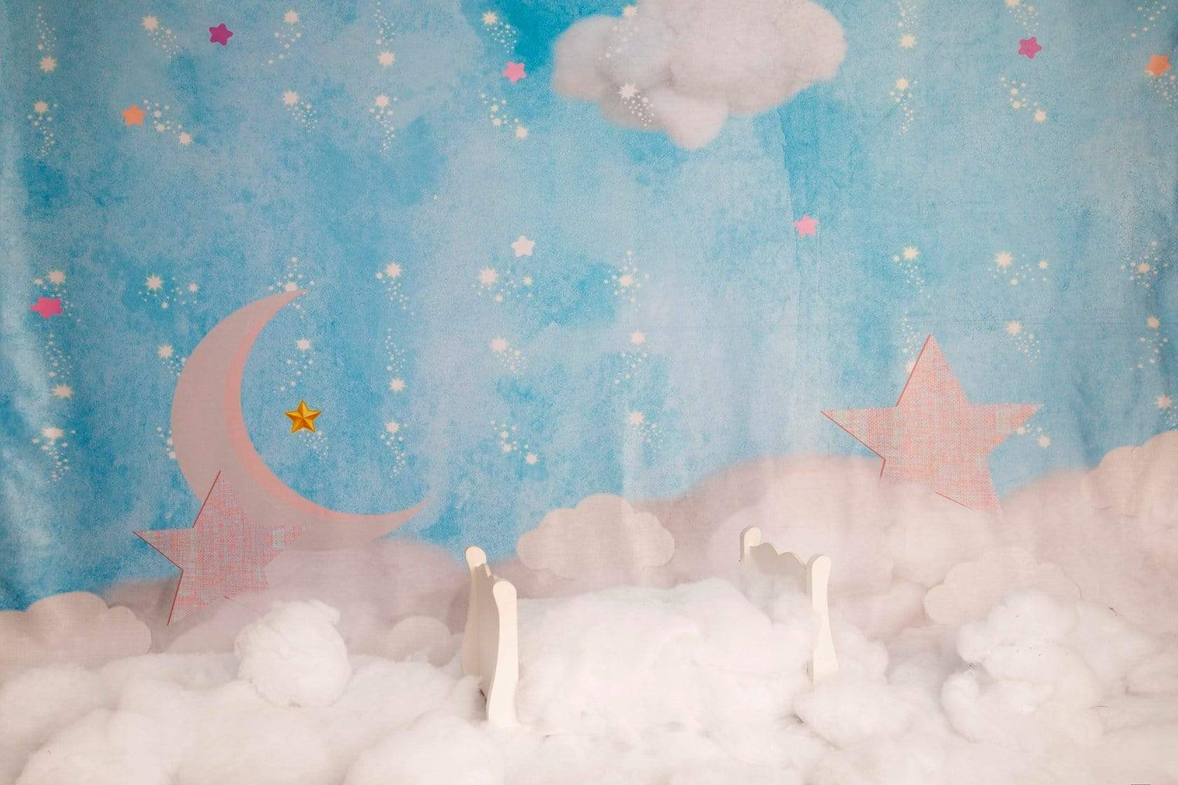 Load image into Gallery viewer, Katebackdrop£ºKate Clouds with Moon and Stars Children Backdrop for Photography Designed by JFCC