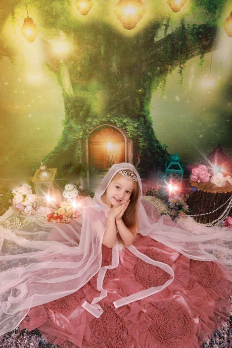 Katebackdrop:Kate Spirit Fairy Tree House Forest Children Backdrop for Photography Designed by JFCC