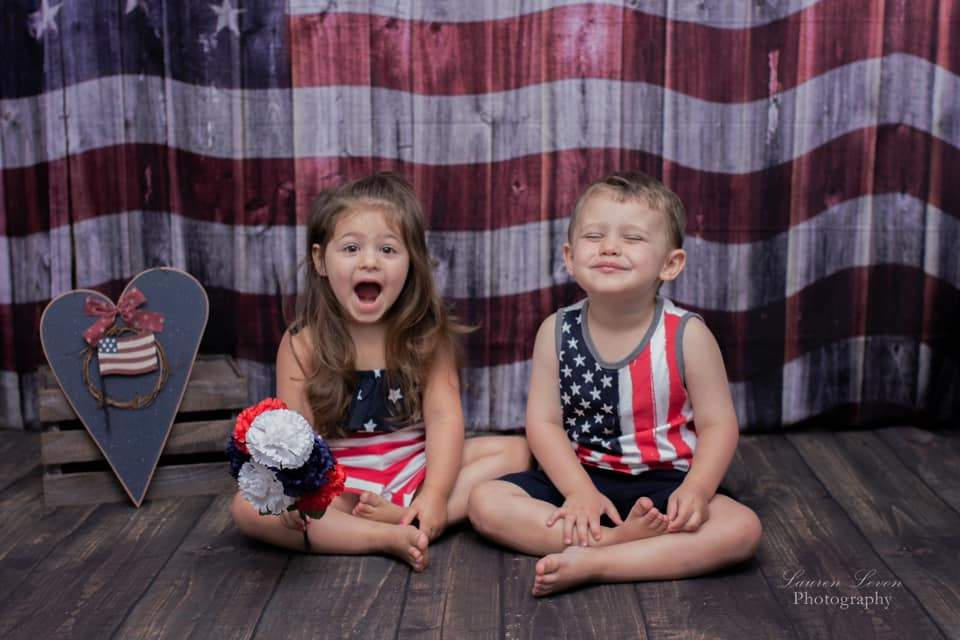 Katebackdrop£ºKate Old Glory US Flag Backdrop for Photography designed by Arica Kirby