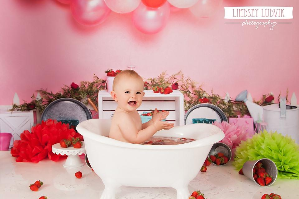 Load image into Gallery viewer, Katebackdrop£ºKate Strawberry Fields Children Backdrop for Photography Designed By Erin Larkins