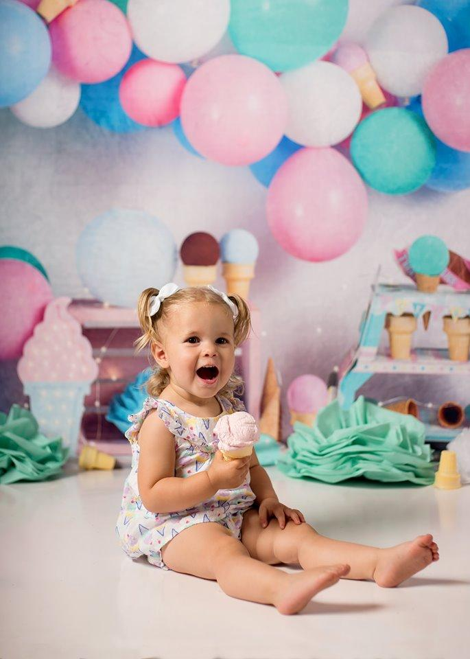 Load image into Gallery viewer, Katebackdrop£ºKate Ice Cream with Balloons Children Backdrop for Photography Designed by Megan Leigh Photography