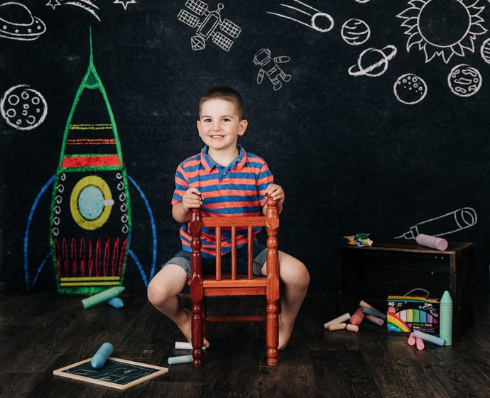Katebackdrop:Kate Back to School Space Backdrop for Photography Designed by Marina Smith