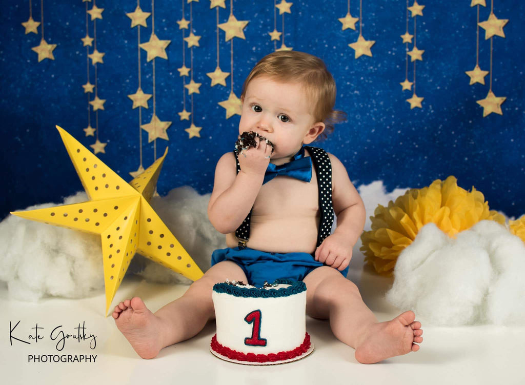 Katebackdrop:Kate Night Sky with Bling Stars and Clouds Children Backdrop for Photography Designed by JFCC