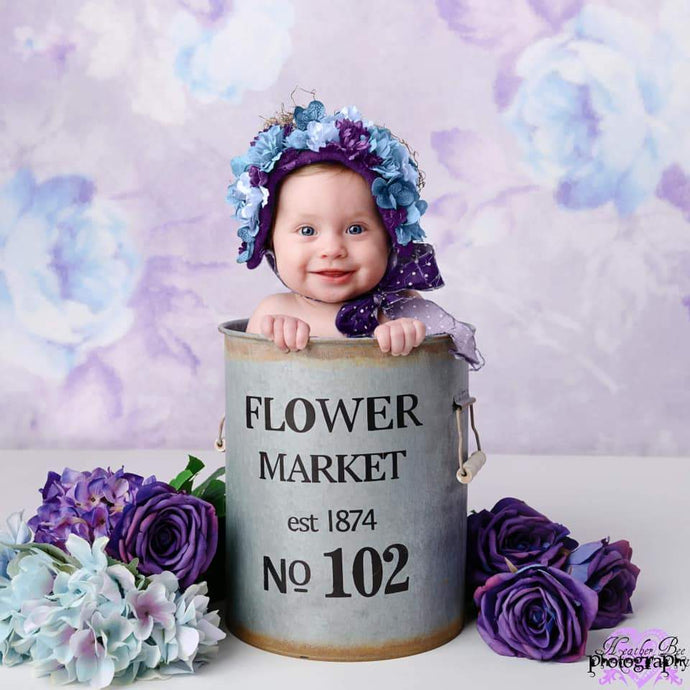 Katebackdrop:Kate Retro Blurry Bokeh Purple Flowers Backdrop for Photography Designed by JFCC