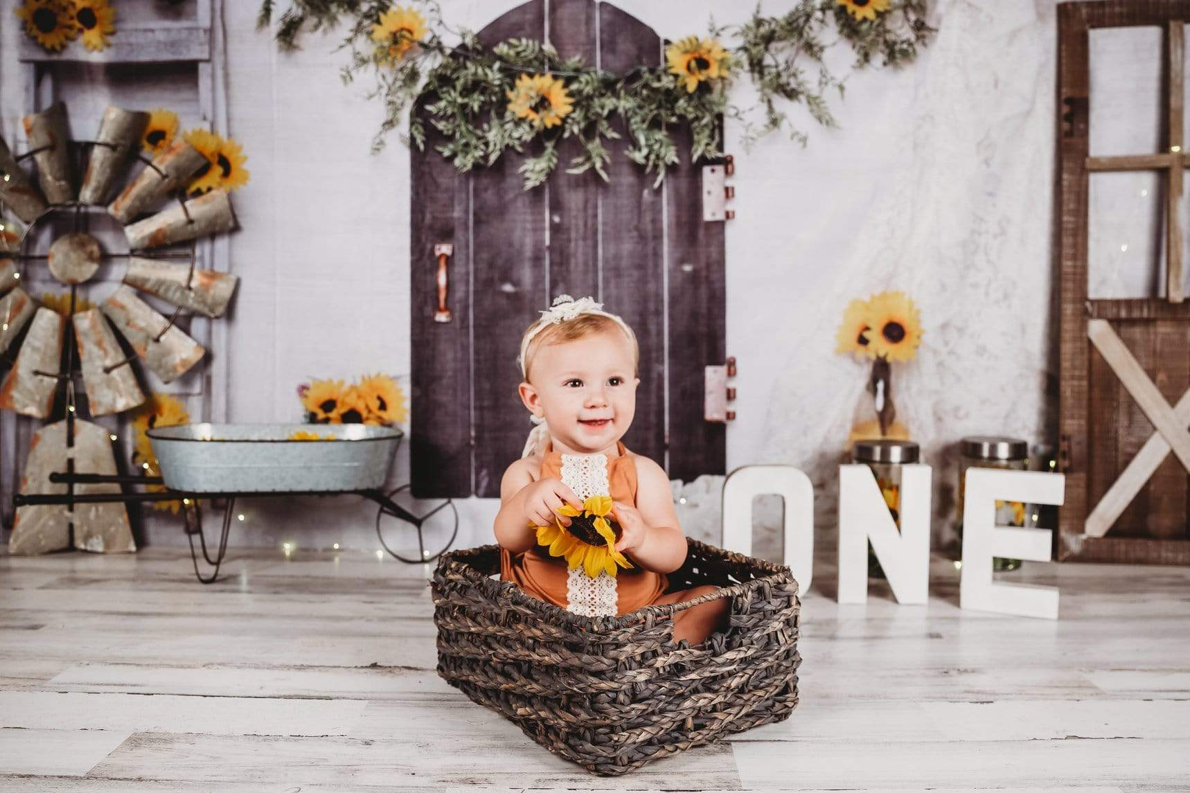 Load image into Gallery viewer, Katebackdrop£ºKate Sunflower Home for Children Backdrop for Photography Designed By Erin Larkins