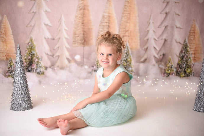 Katebackdrop£ºKate Elegant Christmas Trees with Glitter Backdrop for Photography Designed By Mandy Ringe Photography