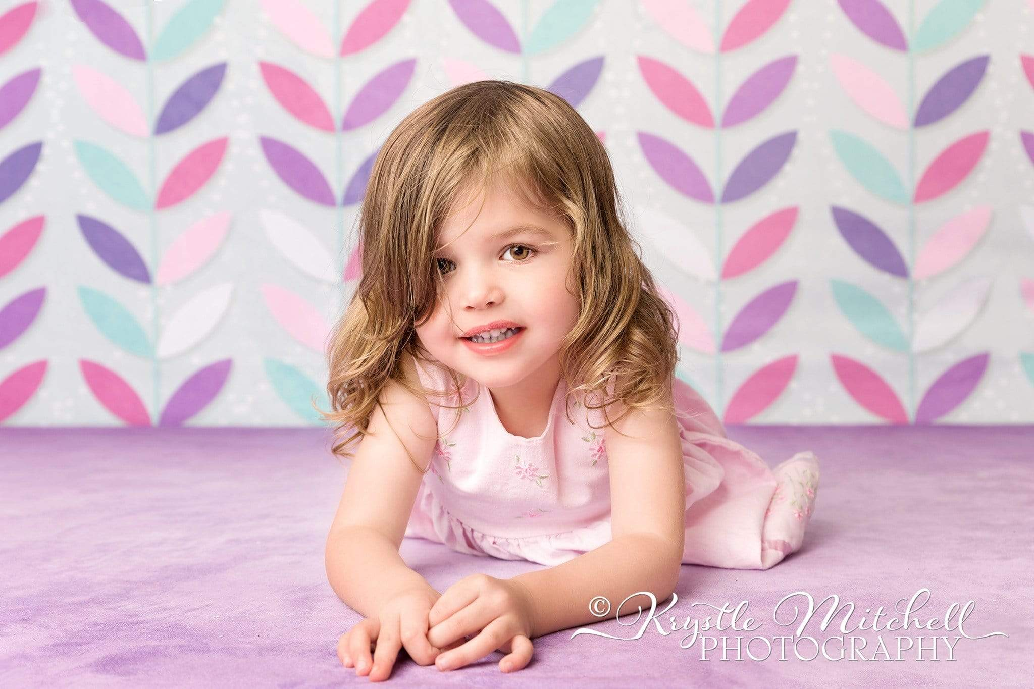 Load image into Gallery viewer, Katebackdrop£ºKate Seamless Leaves Pattern for Girls Backdrop Designed By Krystle Mitchell Photography