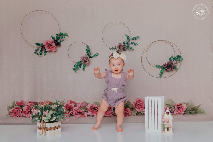 Katebackdrop:Kate Art Color Garland Rose Floral Backdrop for Photography Designed by Cassie Christiansen Photography