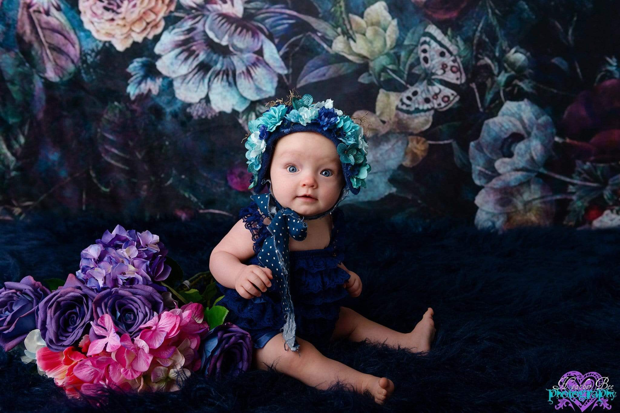 Load image into Gallery viewer, Katebackdrop£ºKate Vintage Dark Rose Floral Backdrop for Photography Designed By Avion Photography