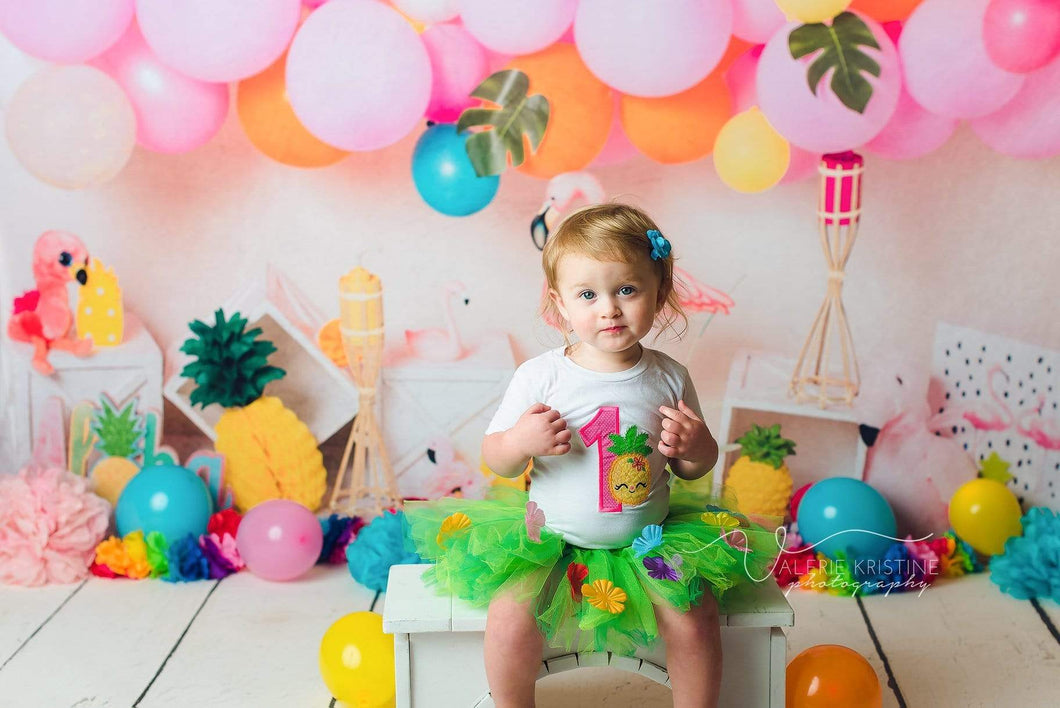 Katebackdrop£ºKate Flamingo Party Children Balloons Backdrop for Photography Designed by  Laura Lee Photography