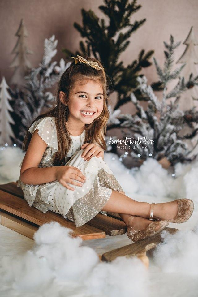 Katebackdrop£ºKate Pine Trees in Snow Christmas Backdrop for Photography Designed By Mandy Ringe Photography