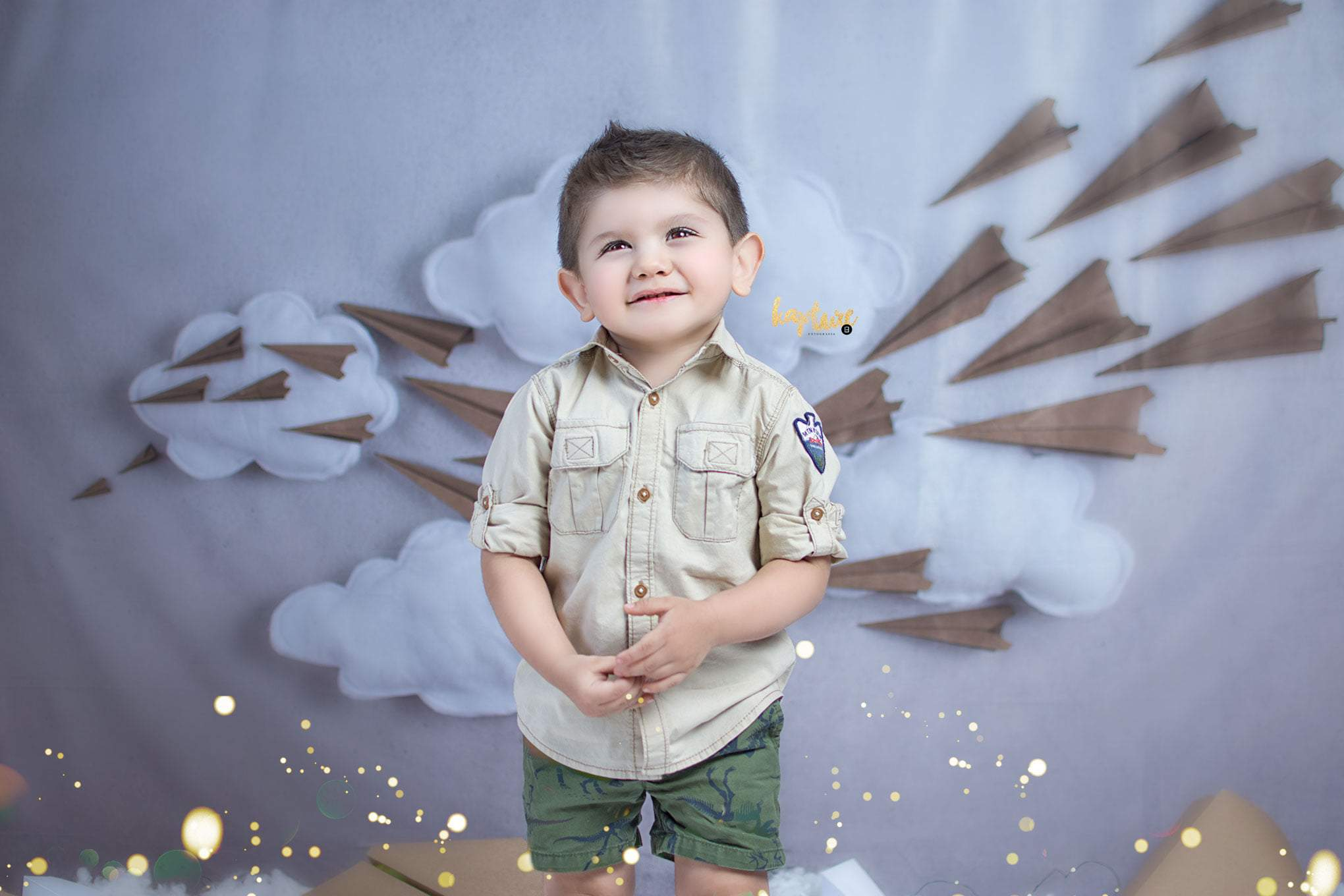 Load image into Gallery viewer, Katebackdrop£ºKate Paper Airplane with Clouds Children Backdrop for Photography Designed by Danette Kay Photography