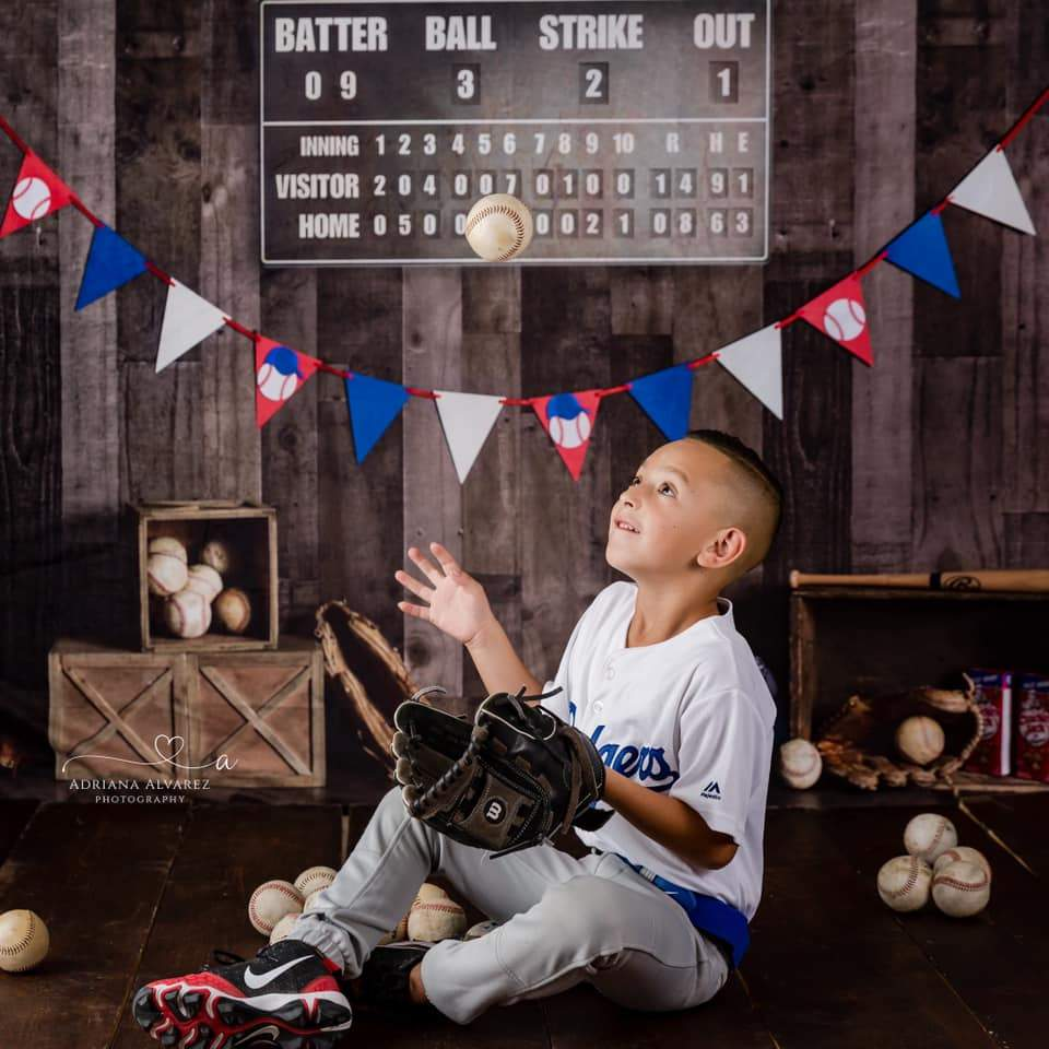 Katebackdrop£ºKate Vintage Baseball with Scoreboard Sport Backdrop for Photography Designed By Mandy Ringe Photography