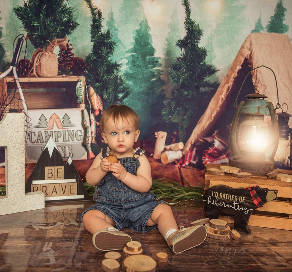 Katebackdrop£ºKate Forest Camping Children Summer Backdrop for Photography Designed by Megan Leigh Photography