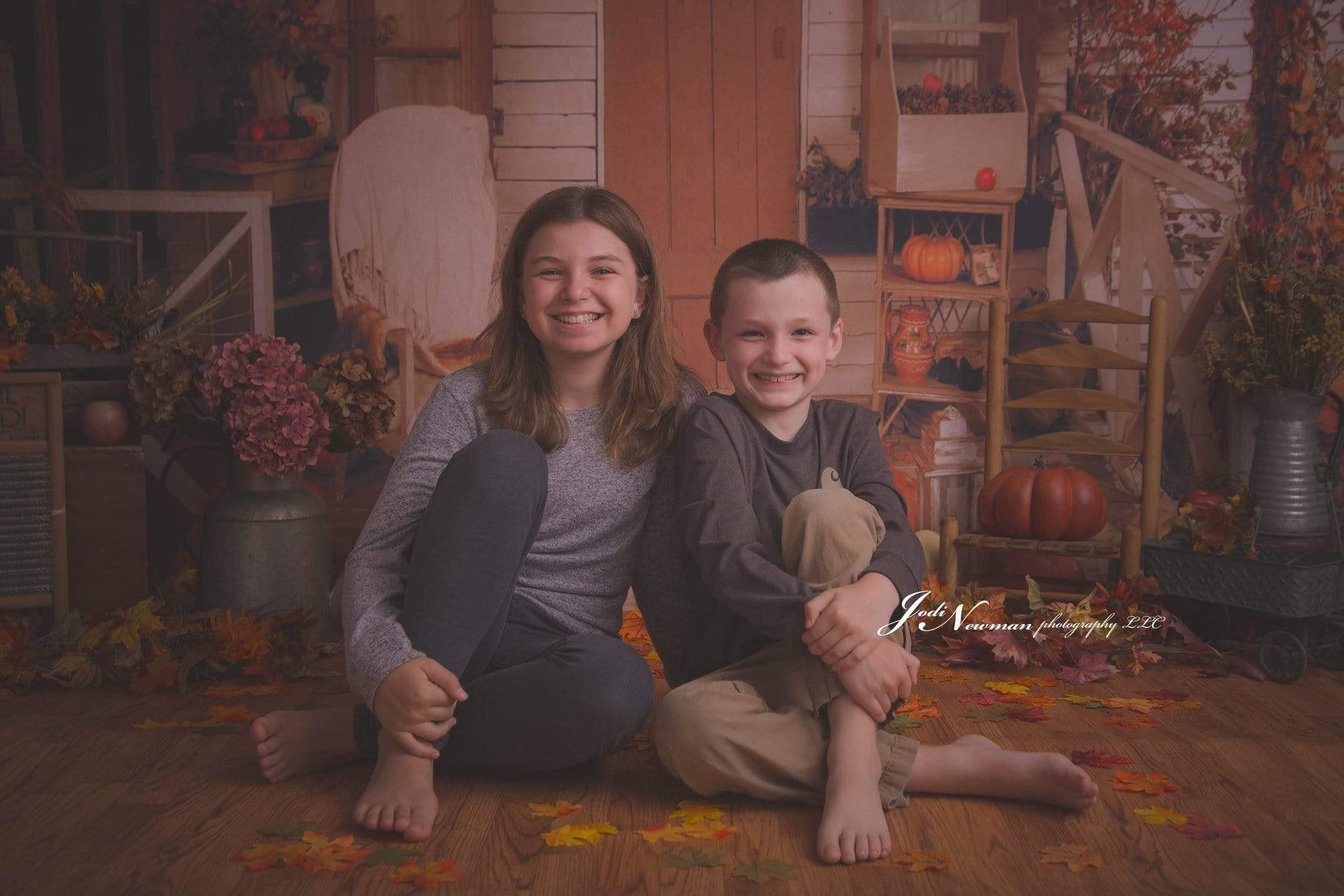 Load image into Gallery viewer, Katebackdrop£ºKate Autumn Leaves Pumpkin Thanksgiving Day Backdrop for Photography