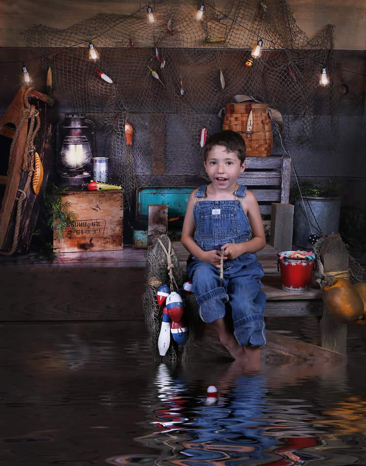 Load image into Gallery viewer, Katebackdrop£ºKate Go Fishing Children Backdrop for Photography Designed By Arica Kirby