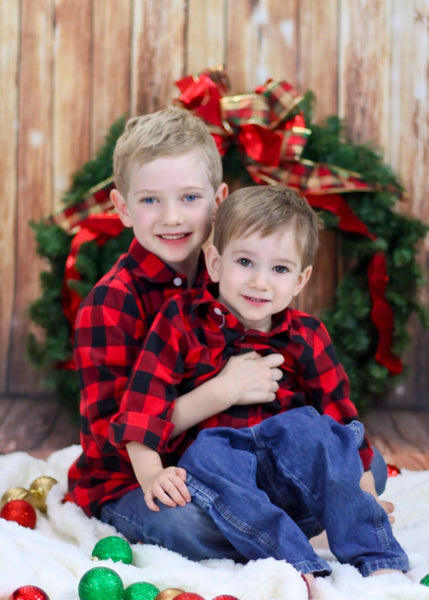 Kate Light Brown Wood Children Christmas Photography Backdrop